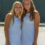 2019-10-05 Dixie HS Girls Tennis at State Tournament_0690a - 1st Doubles - Kalli Beckstrom & Ashley Kezos - 2nd Place