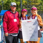 2019-10-05 Region 9 Girls Tennis Players at State Tournament_0298 - PV 2nd Doubles - Olivia Obray & Katrina Hafen - 1st Place