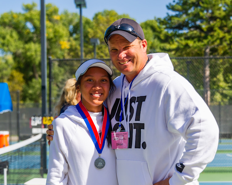 2019-10-05 Dixie HS Girls Tennis at State Tournament_0749a - 2nd Singles - Mychaella Wysneske - 2nd Place