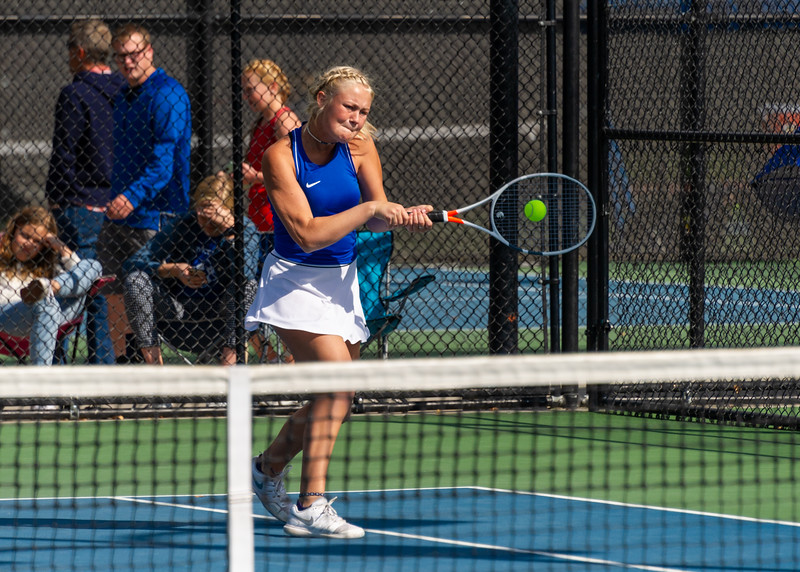 2019-10-05 Dixie HS Girls Tennis at State Tournament_0251a - 2nd Doubles - Becca Little - 2nd Place