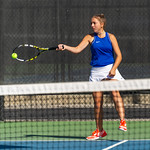 2019-10-05 Dixie HS Girls Tennis at State Tournament_0205a - 1st Doubles - Kalli Beckstrom - 2nd Place