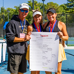 2019-10-05 Region 9 Girls Tennis Players at State Tournament_0304 - DH 1st Doubles - Faith Hess & Cassidy Kohler - 1st Place