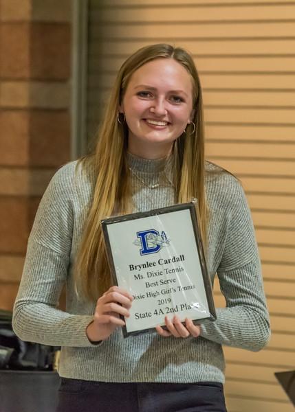 Ms. Dixie Tennis & Best Serve Award - Brynlee