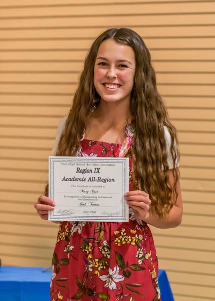 Academic All-Region Award - Mary