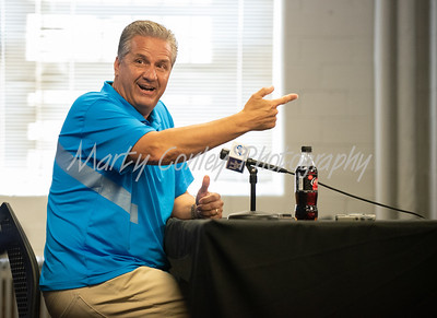 Kentucky head coach, John Calipari addresses the media on Tuesday during Media Day in Lexington.  MARTY CONLEY/ FOR THE DAILY INDEPENDENT