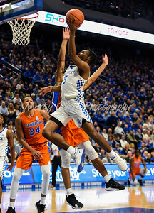 Immanuel Quickley of Kentucky soars to the basket on Saturday against Florida.  MARTY CONLEY/ FOR THE DAILY INDEPENDENT