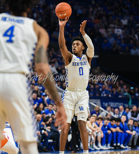 Kentucky's Ashton Hagans releases a jump shot on Saturday evening against Florida.  MARTY CONLEY/ FOR THE DAILY INDEPENDENT