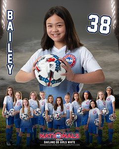 Bailey Nationals Oakland 10 White 2018-2019 Door Sign and Memory Mate