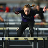4-2-19<br /> Northwestern-Western track and field<br /> NW's Makala Pfefferkorn in the 100 m hurdles.<br /> Kelly Lafferty Gerber | Kokomo Tribune