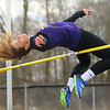 4-2-19<br /> Northwestern-Western track and field<br /> NW's Rachel Mast in the high jump.<br /> Kelly Lafferty Gerber | Kokomo Tribune