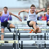 4-2-19<br /> Northwestern-Western track and field<br /> Western's Noah Stranahan in the 110 m hurdles.<br /> Kelly Lafferty Gerber | Kokomo Tribune