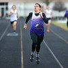 4-2-19<br /> Northwestern-Western track and field<br /> NW's Gus Bourff in the 400 m dash.<br /> Kelly Lafferty Gerber | Kokomo Tribune