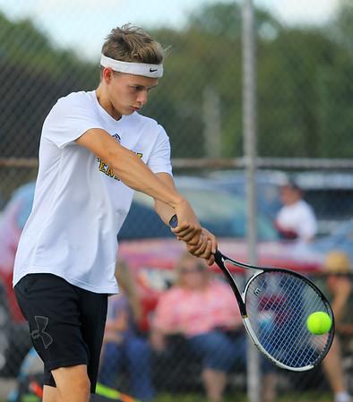 8-28-19 Eastern boys tennis 2 singles Lukas Darling Kelly Lafferty Gerber | Kokomo Tribune