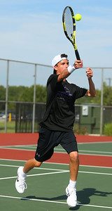 8-22-19 Northwestern vs Eastern boys tennis Northwestern 2 singles Adam Morrow. Kelly Lafferty Gerber | Kokomo Tribune