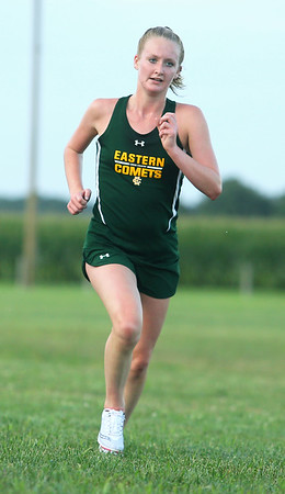 8-21-19 Northwestern Cross Country meet Eastern's Ella Kantz finished fourth in the girls 1-2 race. Kelly Lafferty Gerber | Kokomo Tribune