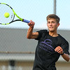 8-22-19<br /> Northwestern vs Eastern boys tennis<br /> Northwestern 3 singles Caden Gaier.<br /> Kelly Lafferty Gerber | Kokomo Tribune