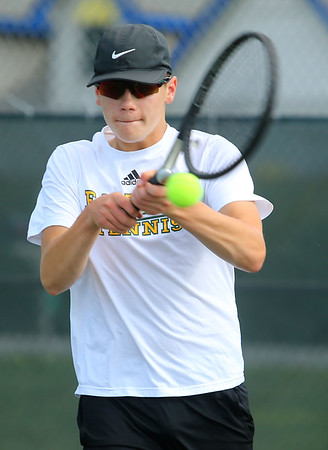8-28-19<br /> Eastern boys tennis<br /> 3 singles Nolan Lapp<br /> Kelly Lafferty Gerber | Kokomo Tribune