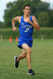 8-21-19 Northwestern Cross Country meet Tipton's Austin Mula finished fourth in the boys 3-4 race. Kelly Lafferty Gerber | Kokomo Tribune