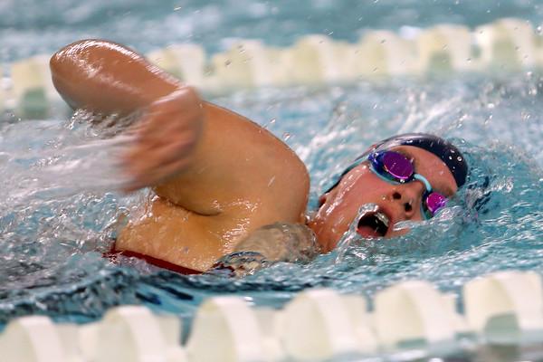 Kokomo's Lily Johnson swimming the 200 yard freestyle during the swim meet between Kokomo HS and Northwestern HS on Monday December 16, 2019. <br /> Tim Bath   Kokomo Tribune