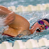 Kokomo's Lily Johnson swimming the 200 yard freestyle during the swim meet between Kokomo HS and Northwestern HS on Monday December 16, 2019. <br /> Tim Bath | Kokomo Tribune