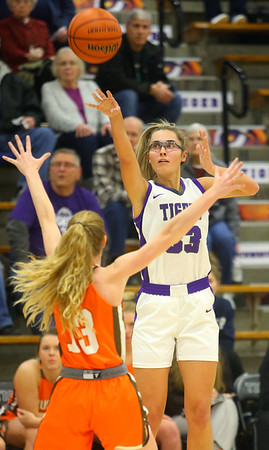 12-10-19<br /> Northwestern vs Hamilton Heights girls basketball<br /> Madison Layden puts up a shot.<br /> Kelly Lafferty Gerber   Kokomo Tribune