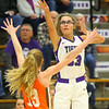 12-10-19<br /> Northwestern vs Hamilton Heights girls basketball<br /> Madison Layden puts up a shot.<br /> Kelly Lafferty Gerber | Kokomo Tribune