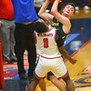 12-27-19<br /> Kokomo vs Eastern boys basketball in the Phil Cox Memorial Holiday Tournament<br /> Eastern's Ethan Wilcox looks for a pass.<br /> Kelly Lafferty Gerber | Kokomo Tribune