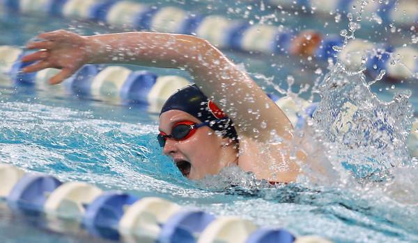 12-11-9<br /> Kokomo swimming<br /> Emily Lucas in the girls 200 yard freestyle.<br /> Kelly Lafferty Gerber   Kokomo Tribune