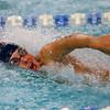Kokomo's Pablo Kettener swimming the 200 free relay during the swim meet between Kokomo HS and Northwestern HS on Monday December 16, 2019. <br /> Tim Bath | Kokomo Tribune