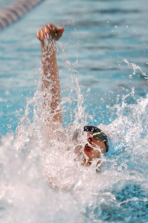 Kokomo's Jake Cleaver swimming the 200 yard medley relay during the swim meet between Kokomo HS and Northwestern HS on Monday December 16, 2019. <br /> Tim Bath | Kokomo Tribune