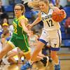 12-13-19<br /> Tri Central vs Eastern girls basketball<br /> TC's Kenadie Fernung drives the ball down the court.<br /> Kelly Lafferty Gerber | Kokomo Tribune