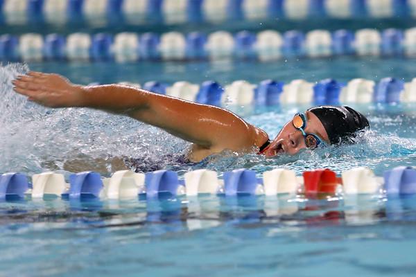 Kokomo's Kendra Cline swimming the 200 yard freestyle during the swim meet between Kokomo HS and Northwestern HS on Monday December 16, 2019. <br /> Tim Bath   Kokomo Tribune