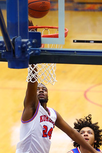 R.J. Oglesby for 2 in the 2nd quarter during Saturday afternoon action between the Kokomo Wildcats and South Bend Adams Eagles on December 28, 2019. Tim Bath | Kokomo Tribune