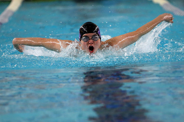 Northwestern's Patrick Bath swimming the 200 yard medley relay during the swim meet between Kokomo HS and Northwestern HS on Monday December 16, 2019. <br /> Tim Bath | Kokomo Tribune
