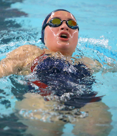 12-11-9<br /> Kokomo swimming<br /> Paige Wilson in the girls 200 yard medley relay.<br /> Kelly Lafferty Gerber | Kokomo Tribune