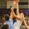 12-20-19<br /> Northwestern vs Maconaquah boys basketball<br /> NW's Mason Estle puts up a shot.<br /> Kelly Lafferty Gerber | Kokomo Tribune