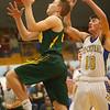 12-13-19<br /> Tri Central vs Eastern boys basketball<br /> Eastern's Karson West shoots.<br /> Kelly Lafferty Gerber | Kokomo Tribune