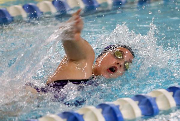 Northwestern's Alexandra Rosales swimming the 200 yard medley relay during the swim meet between Kokomo HS and Northwestern HS on Monday December 16, 2019. <br /> Tim Bath | Kokomo Tribune