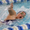 Northwestern's Alexandra Rosales swimming the 200 yard medley relay during the swim meet between Kokomo HS and Northwestern HS on Monday December 16, 2019. <br /> Tim Bath | Kokomo Tribune