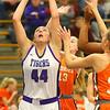12-10-19<br /> Northwestern vs Hamilton Heights girls basketball<br /> Kendall Bostic pulls down a rebound.<br /> Kelly Lafferty Gerber | Kokomo Tribune