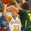 12-13-19<br /> Tri Central vs Eastern boys basketball<br /> TC's Caden Leininger shoots.<br /> Kelly Lafferty Gerber | Kokomo Tribune