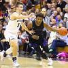 12-6-19<br /> Western vs Northwestern boys basketball<br /> NW's Tayson Parker takes the ball down the court.<br /> Kelly Lafferty Gerber | Kokomo Tribune