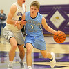 12-20-19<br /> Northwestern vs Maconaquah boys basketball<br /> Mac's Nolan Kelly takes the ball down the court.<br /> Kelly Lafferty Gerber | Kokomo Tribune