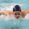 12-11-9<br /> Kokomo swimming<br /> Macee Reckard in the girls 200 yard medley relay.<br /> Kelly Lafferty Gerber | Kokomo Tribune
