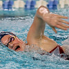 Kokomo's Macee Rickard swimming the 500 free during the swim meet between Kokomo HS and Northwestern HS on Monday December 16, 2019. <br /> Tim Bath   Kokomo Tribune