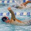 Kokomo's Brayden York swimming the 500 free during the swim meet between Kokomo HS and Northwestern HS on Monday December 16, 2019. <br /> Tim Bath   Kokomo Tribune