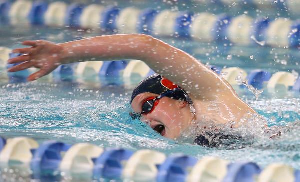 12-11-9<br /> Kokomo swimming<br /> Emily Lucas in the girls 200 yard freestyle.<br /> Kelly Lafferty Gerber | Kokomo Tribune