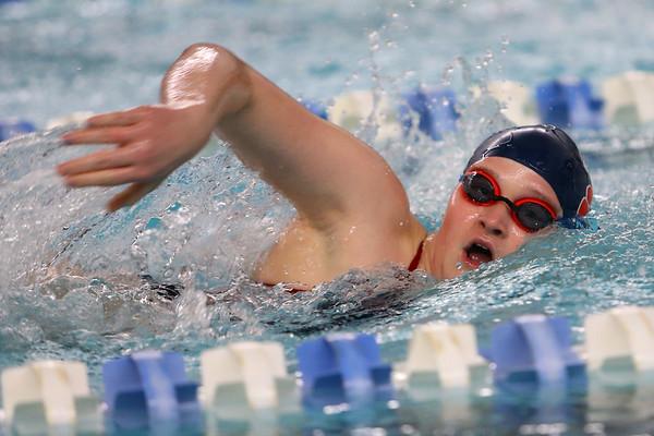Kokomo's Emily Lucas swimming the 100 free during the swim meet between Kokomo HS and Northwestern HS on Monday December 16, 2019. <br /> Tim Bath | Kokomo Tribune