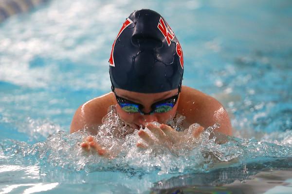 Kokomo's Stormy Blake swimming the 200 yard medley relay during the swim meet between Kokomo HS and Northwestern HS on Monday December 16, 2019. <br /> Tim Bath   Kokomo Tribune