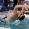 Kokomo's Caleb Smith swimming the100 backstroke during the swim meet between Kokomo HS and Northwestern HS on Monday December 16, 2019. Tim Bath | Kokomo Tribune